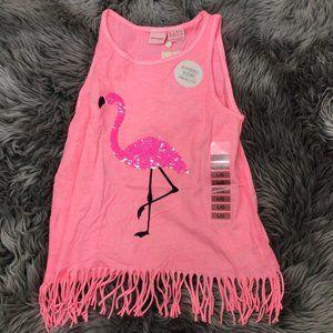 Manguun Girl's Tank Top: Pink | Flamingo |